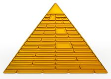 Pyramid golden Royalty Free Stock Photography