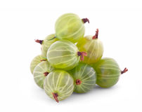 Pyramid of gooseberry isolated on white Royalty Free Stock Image