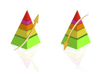 Pyramid Graph vector illustration