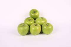 Pyramid of green apples Royalty Free Stock Photography