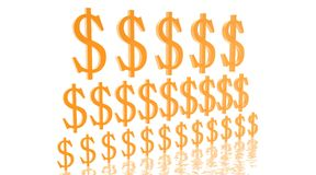 Pyramid of growing dollars Royalty Free Stock Photography