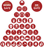 Pyramid Health and Safety Icon collection Stock Image