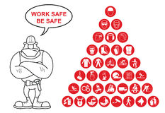 Pyramid Health and Safety Icon collection Royalty Free Stock Photography