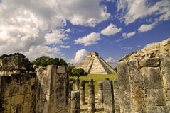 Pyramid from Here. Pyramid in Chichen Itza, Mexico Stock Photography