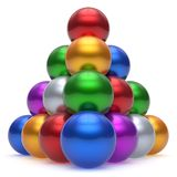 Pyramid hierarchy corporation sphere ball red top leadership Royalty Free Stock Image