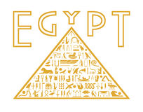 Pyramid of the hieroglyphs Stock Image