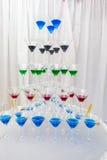 Pyramid holiday glasses Royalty Free Stock Photography