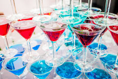 Pyramid holiday glasses Royalty Free Stock Images