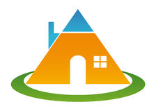 Pyramid home Stock Photography