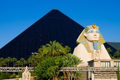 Pyramid Hotel in Las Vegas stock photo