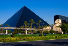 Pyramid Hotel in Las Vegas Stock Photos
