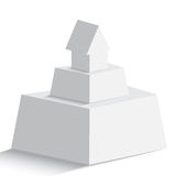 pyramid with house or arrow icon on the top on white background Royalty Free Stock Photos