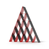 Pyramid house of cards Royalty Free Stock Image