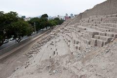 Pyramid of Huaca Pucllana Stock Images