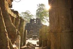 Pyramid i Cambodja Arkivbilder
