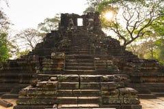 Pyramid i Cambodja Royaltyfri Bild