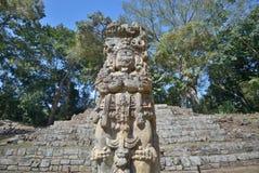 Pyramid i den forntida Mayan staden av Copan i Honduras. Arkivfoto