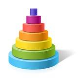 Pyramid i lager Arkivbild