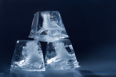 Pyramid of ice cubes Stock Image