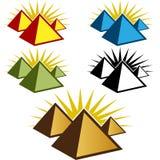 Pyramid Icon Set Royalty Free Stock Photography