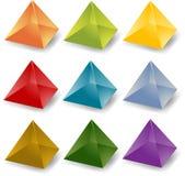 Pyramid icons Stock Photos
