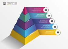 Pyramid. Infographic concept. Modern design template. Vector. Illustration Stock Photography