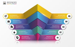 Pyramid. Infographic concept. Modern design template. Vector. Illustration Royalty Free Stock Images