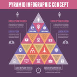 Pyramid Infographic Concept - Vector Scheme with Icons Royalty Free Stock Image