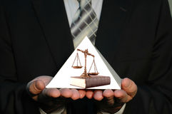 Pyramid of Justice Stock Photo