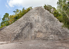 Pyramid .Kabah Mayan Ruins in Mexico Royalty Free Stock Image