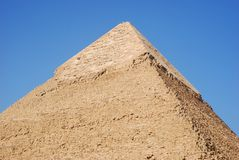 The pyramid of Kefren in Cairo, Giza, Egypt royalty free stock images