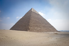 The Pyramid of Khafrae. Is the second largest of the Ancient Egyptian Pyramids of Giza and the tomb of the fourth-dynasty pharaoh Khafre (Chephren in Greek) Royalty Free Stock Image