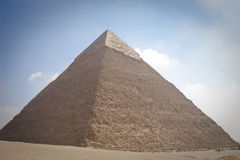 The Pyramid of Khafrae. Is the second largest of the Ancient Egyptian Pyramids of Giza and the tomb of the fourth-dynasty pharaoh Khafre (Chephren in Greek) Stock Photo