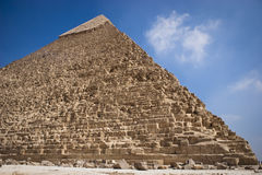The Pyramid of Khafrae. Is the second largest of the Ancient Egyptian Pyramids of Giza and the tomb of the fourth-dynasty pharaoh Khafre (Chephren in Greek) Stock Photography