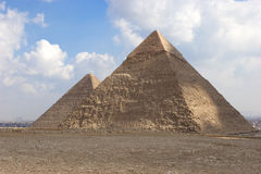 The Pyramid of Khafrae. Is the second largest of the Ancient Egyptian Pyramids of Giza and the tomb of the fourth-dynasty pharaoh Khafre (Chephren in Greek) Royalty Free Stock Images
