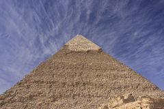 Pyramid of Khafre with blue sky and clouds, Cairo, Royalty Free Stock Image