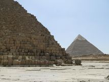 Pyramid of Khafre and Cheops Stock Photos