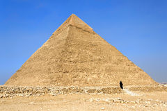 Pyramid of Khafre (Chephren). Egypt royalty free stock photography