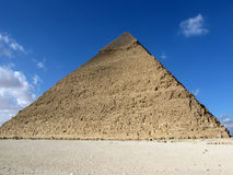 Pyramid of Khafre (Chephren), Egypt. The great ancient Pyramid of Chephren in Giza, near Cairo (Egypt royalty free stock image