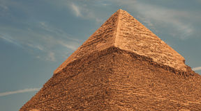 Pyramid of Khafre (Chephren). At Giza area stock photo