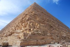 Pyramid of Khafre (Chephren). Giza, Egipt. The Pyramid of Khafre, also known as the Pyramid of Chephren, is the second-tallest and second-largest of the ancient royalty free stock images