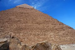 Pyramid of Khafre (Chephren). Giza, Egipt Royalty Free Stock Images