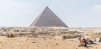 The Pyramid of Khafre in Egypt stock photos