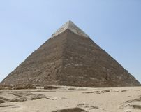 Pyramid of Khafre in Egypt Stock Images