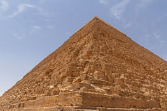 Pyramid of Khafre in Giza. Against blue sky, Egypt Royalty Free Stock Photo