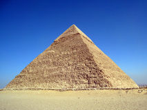 The pyramid of Khafre in Giza, Cairo. Which was taken almost this time last year when I was on my business trip in Cairo Stock Photos