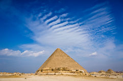 Pyramid of Khafre in Giza Royalty Free Stock Photography
