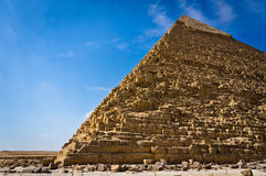 Pyramid of Khafre in Giza Royalty Free Stock Images