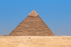 Pyramid of Khafre in Giza, Egypt Stock Images