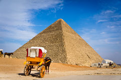 Pyramid of Khafre in Giza, Egypt. View of pyramid of Khafre in Giza, Egypt Royalty Free Stock Photos